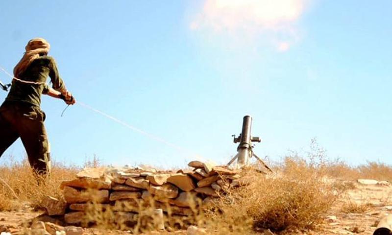عنصر من تنظيم الدولة في ريف حمص الشرقي_(انترنت)