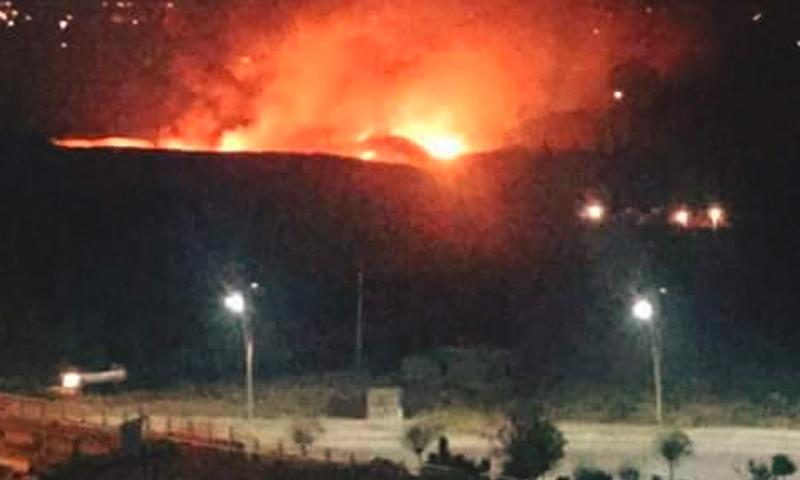 الانفجارات داخل مطار المزة في دمشق - 7 كانون الأول 2016 (فيس بوك)