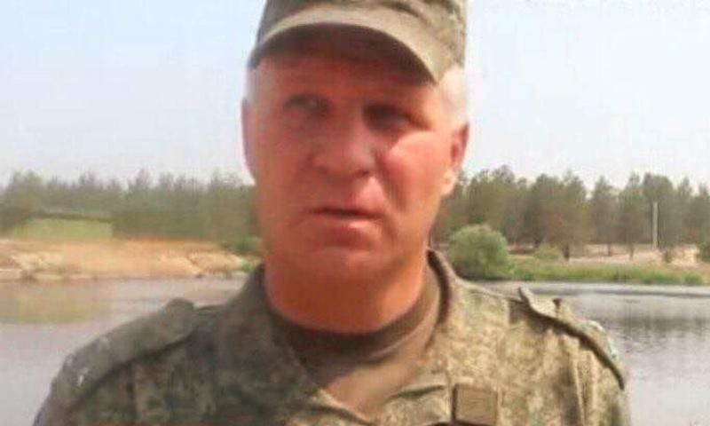العقيد الروسي روسلان غاليتسكي (قناة روسيا اليوم)