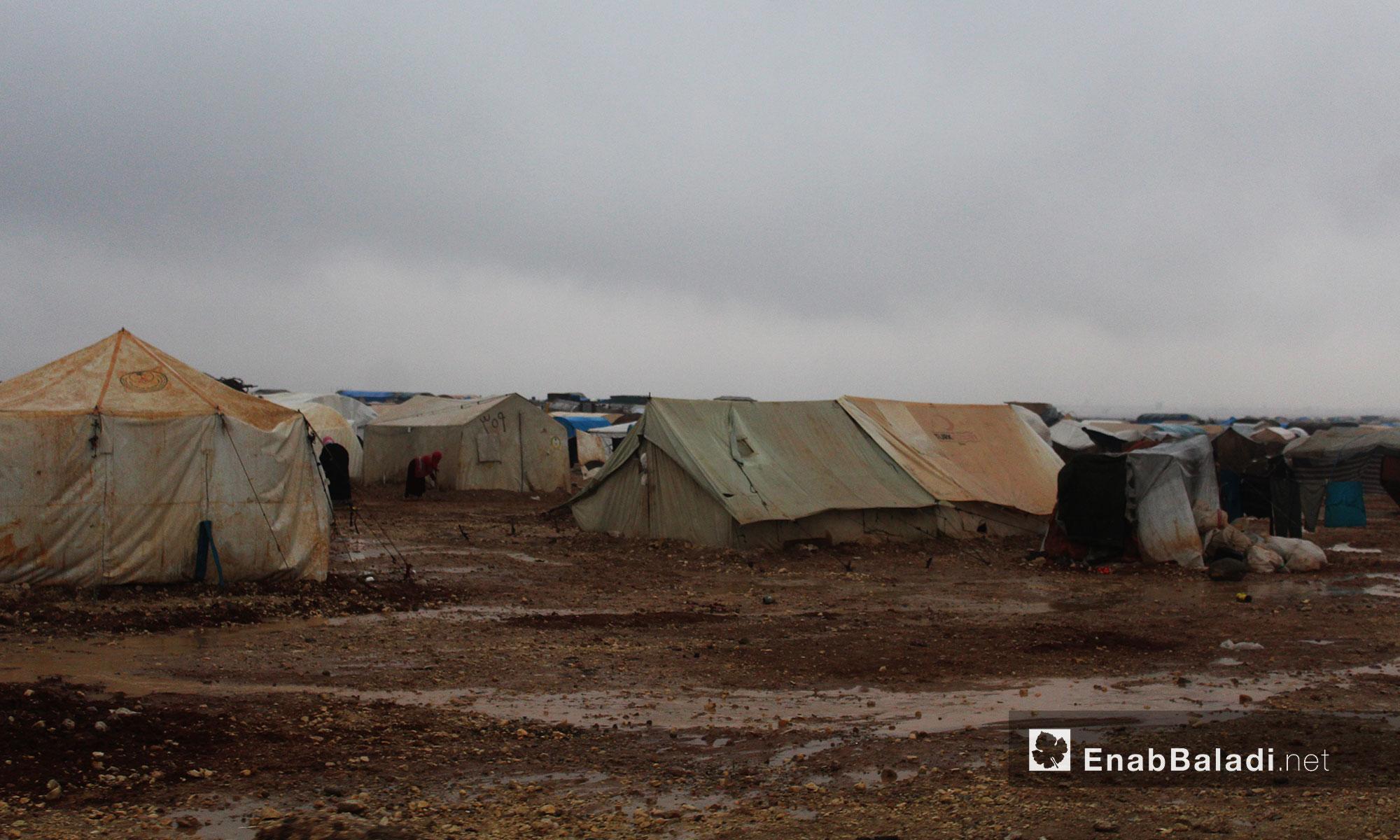 مخيم حدودي في ريف حلب الشمالي - 1 كانون الأول 2016 (عنب بلدي)