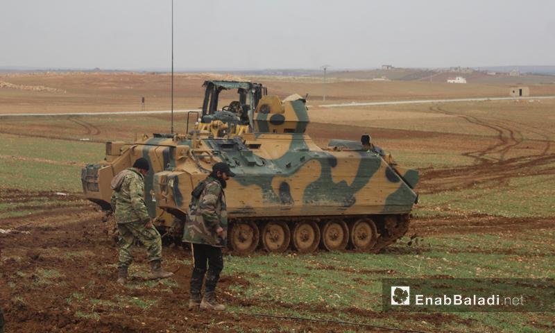 جانب من معارك مدينة الباب في ريف حلب الشرقي- السبت 17 كانون الأول (عنب بلدي)