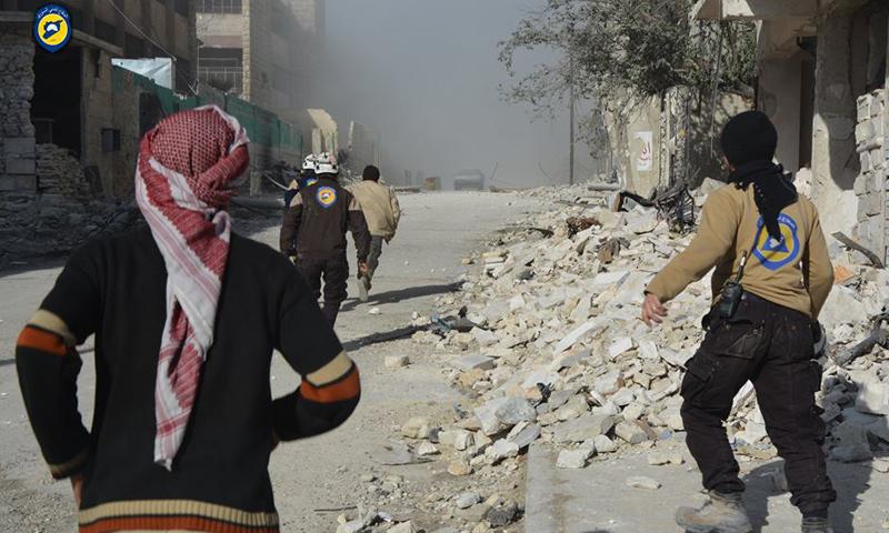 آثار القصف على حي الفردوس بحلب_6 كانون الأول_(الدفاع المدني)