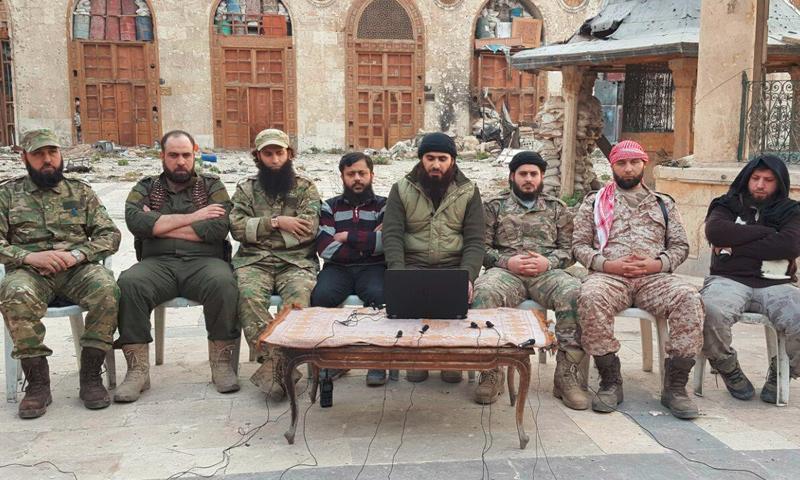 """تعبيرية: قادة فصائل عسكرية في حلب تعلن """"مجلس قيادة حلب"""" - 14 تشرين الثاني 216 (تويتر)"""