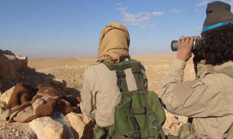 """أرشيفية- عناصر من تنظيم """"الدولة الإسلامية"""" في ريف حمص الشرقي (تويتر)"""