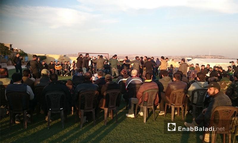 عرس لأحد شباب داريا في ريف إدلب - كانون الأول 2016 (عنب بلدي).