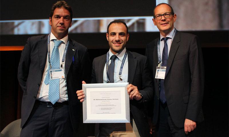 من تكريم الشاب السوري محمود فرزات في إيطاليا 16 كانون الأول 2016 (الجمعية الأوروبية لجراحة المسالك البولية)