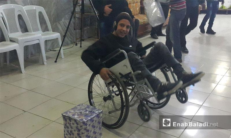 ذوو الاحتياجات الخاصة داخل مركز التأهيل - الأربعاء 7 كانون الأول 2016 (عنب بلدي)