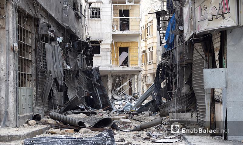 آثار القصف والدمار في أحياء حلب الشرقية- 2 كانون الأول (عنب بلدي)