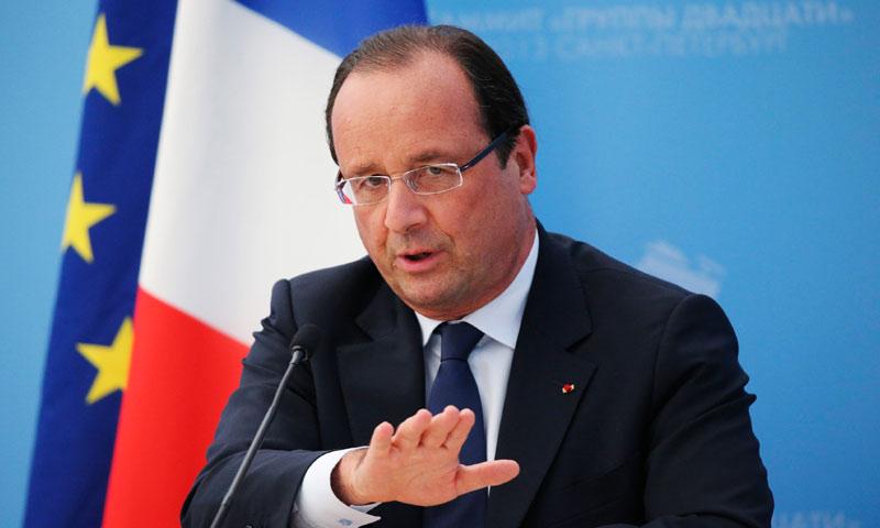 الرئيس الفرنسي فرانسوا هولاند - (انترنت)