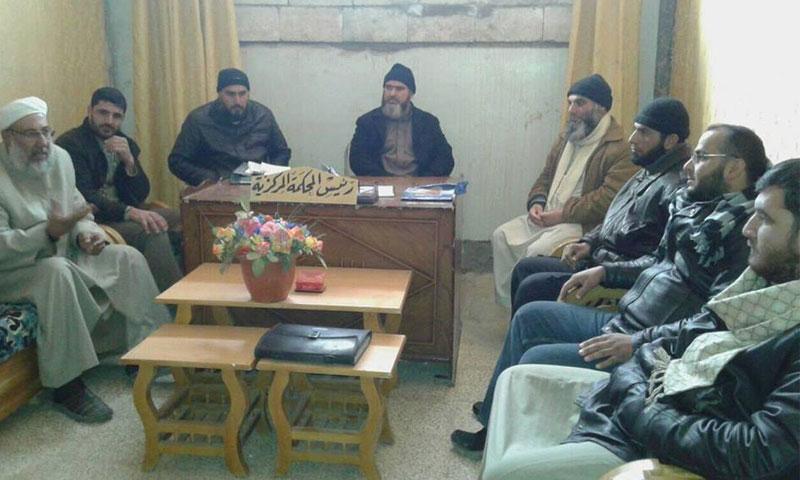 أرشيفية- المحكمة الشرعية في منطقة الحولة بريف حمص (فيس بوك)
