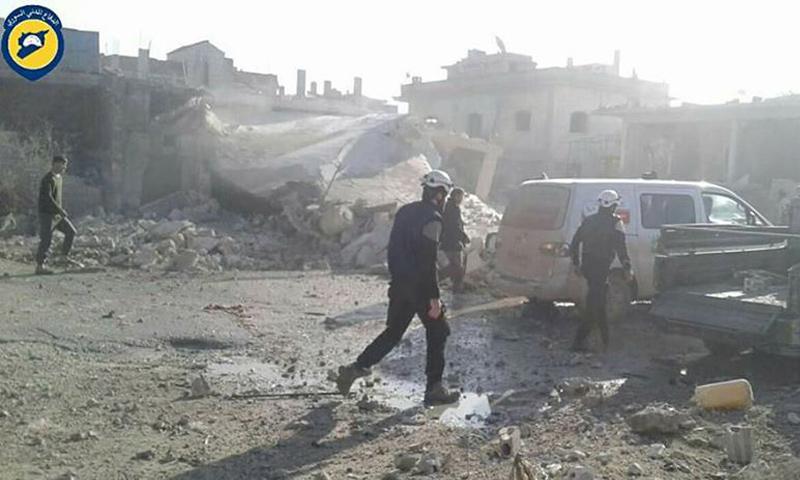 آثار القصف على بلدة حاس في ريف إدلب_6 كانون الأول_(الدفاع المدني)