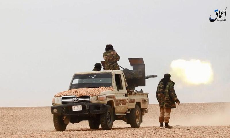 عناصر من تنظيم الدولة في ريف حمص الشرقي (أعماق)