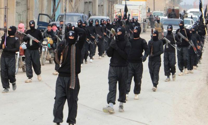 مقاتلين من تنظيم الدولة في مدينة دير الزور_(انترنت)