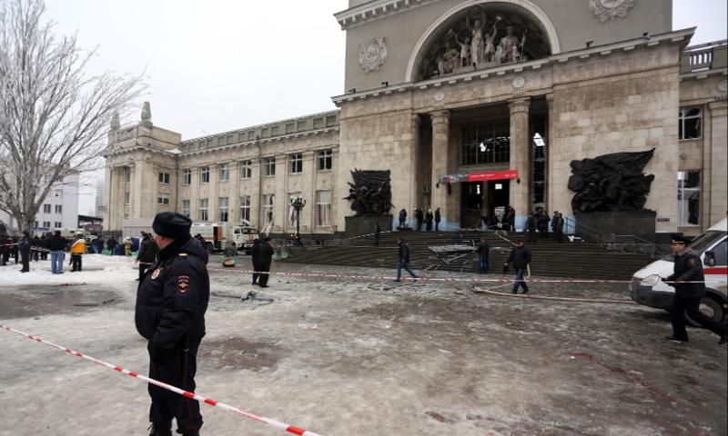 محطة قطار روسية تعرضت لهجوم سابق - (انترنت)