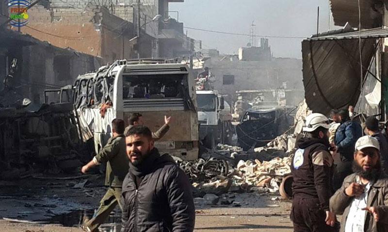 أضرار بشرية ومادية جراء غارات جوية على مدينة كفرنبل- الأحد 4 كانون الأول (راديو فرش)