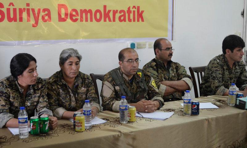 """أرشيفية- إعلان تأسيس قوات """"سوريا الديمقراطية"""" في تشرين الأول 2015 (وكالات)"""