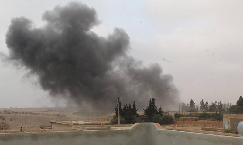 جانب من الاشتباكات في محيط قرية جعبر_(فيس بوك)