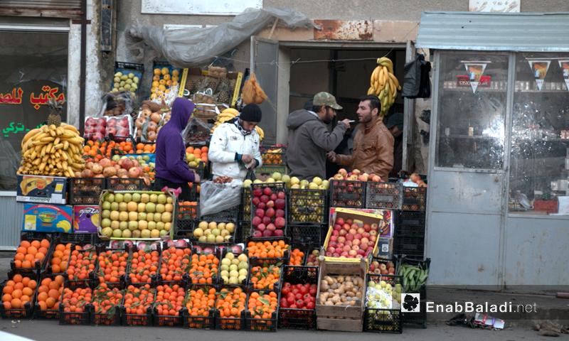 محل تجاري في مدينة جرابلش بريف حلب الشرقي- الخميس 29 كانون الأول (عنب بلدي)