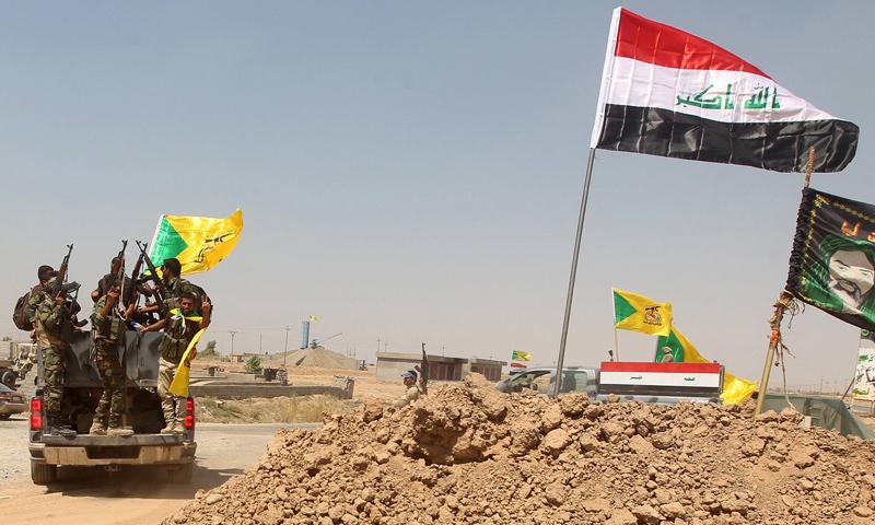"""أرشيفية- عناصر من """"الحشد الشعبي"""" في العراق"""