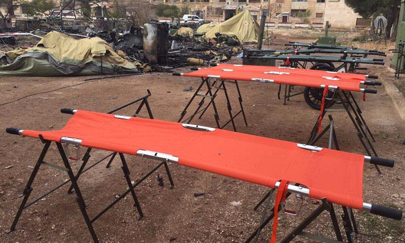 المنطقة المستهدفة في حي الفرقان بمدينة حلب- الاثنين 5 كانون الأول 2016 (سبوتنيك)