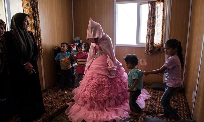 زواج طفلة عمرها 13 عامًا في درعا (انترنت)