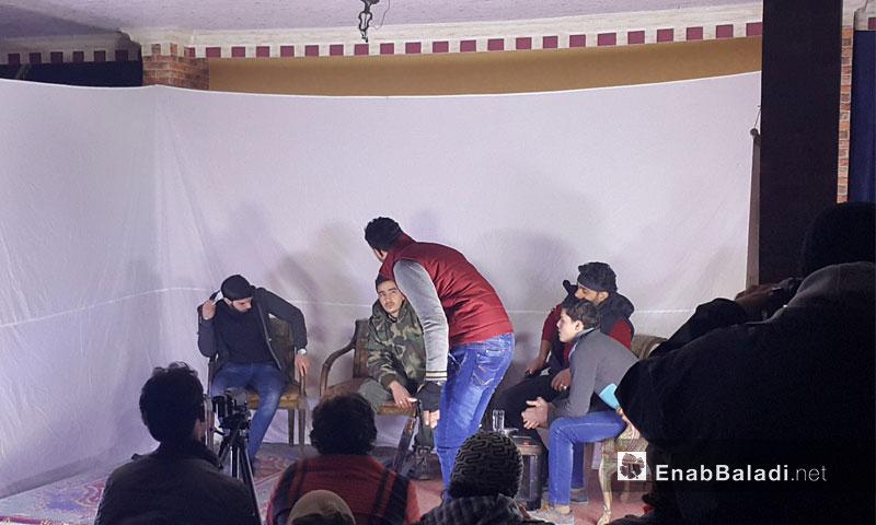 صور من العرض المسرحي في الغوطة الشرقية - الخميس 15 كانون الأول 2016 (عنب بلدي)