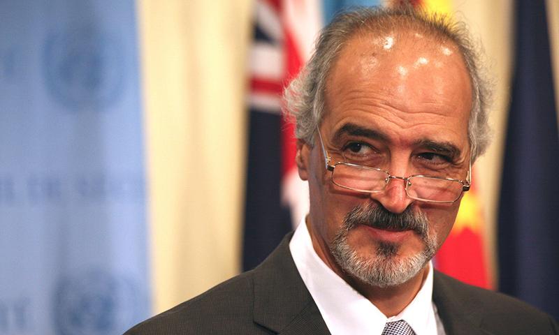 مندوب النظام السوري في الأمم المتحدة بشار الجعفري (وكلات)