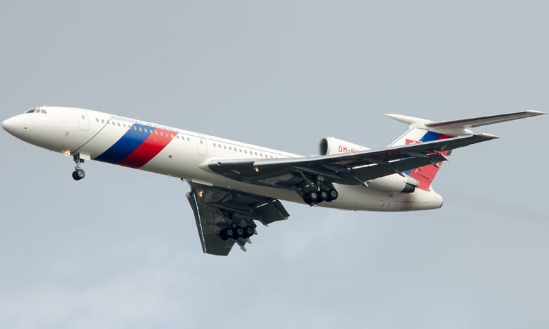 """طارئرة """"توبوليف 154"""" روسية الصنع (وكالات)"""