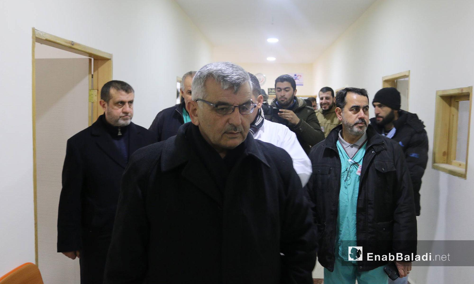 حضر الافتتاح وزير الصحة في الحكومة المؤقتة محمد فراس الجندي