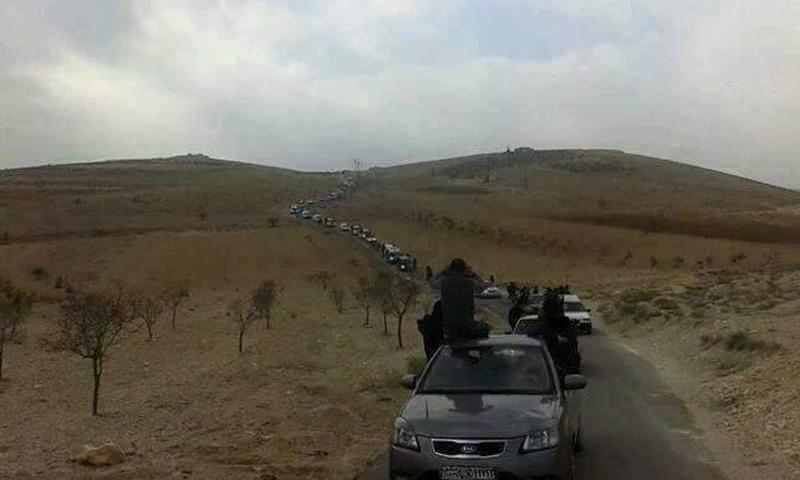 أثناء تشييع قتلى النظام في حفير الفوقا_(فيس بوك)