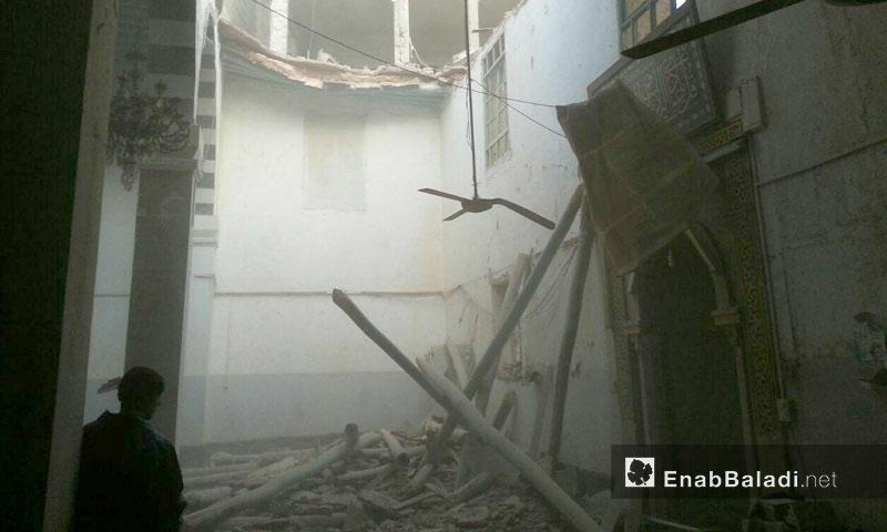 أثار القصف على مدينة دوما في الغوطة الشرقية - كانون الثاني 2017 (عنب بلدي)