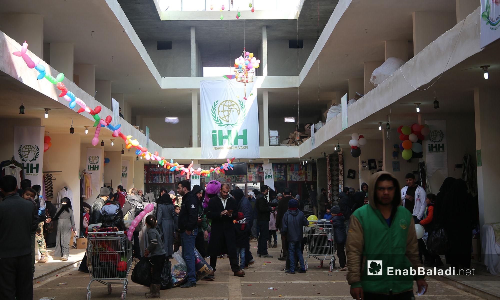سوق الدانا الخيري بريف إدلب - 19 كانون الثاني 2017 (عنب بلدي)