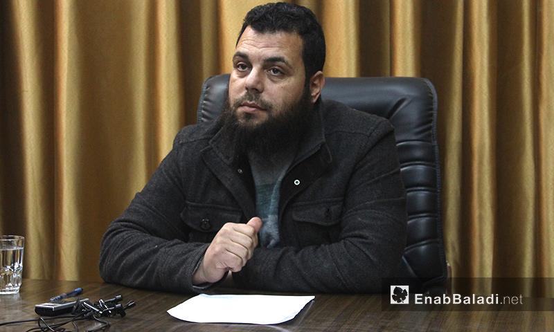 """رئيس الإدارة المدنية في """"جيش الفتح""""، محمد الأحمد - 22 كانون الثاني 2017 (عنب بلدي)"""