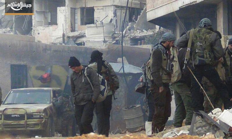"""مقاتلو """"جيش الإسلام"""" في الغوطة الشرقية - 30 كانون الثاني 2017 (جيش الإسلام)"""