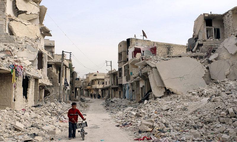 أرشيفية- أحد أحياء مدينة حلب (وكالات)