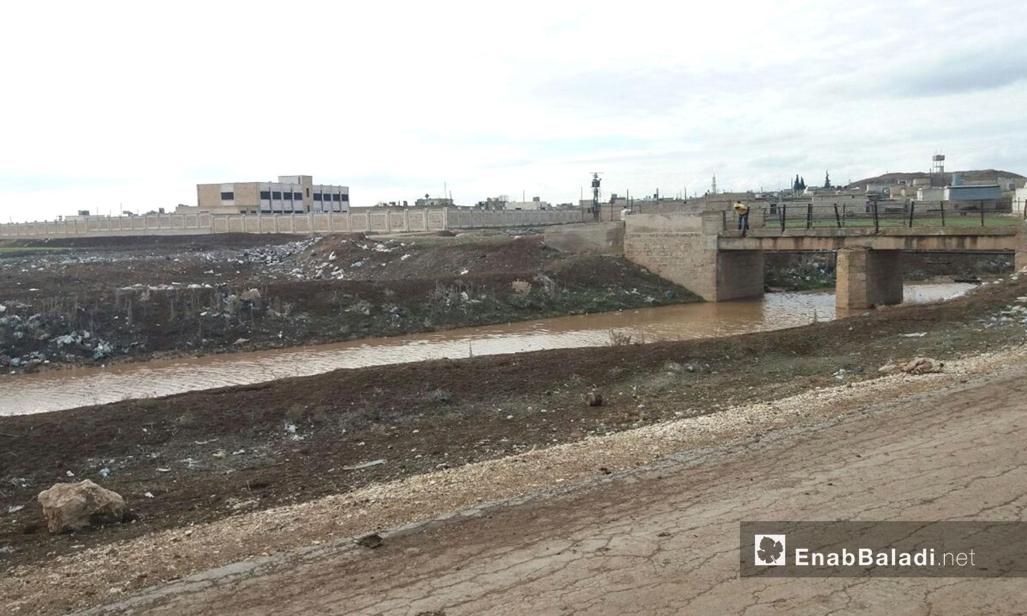 """أحد أهم روافده نهر """"أق بينار"""" القادم من كلس التريكة"""