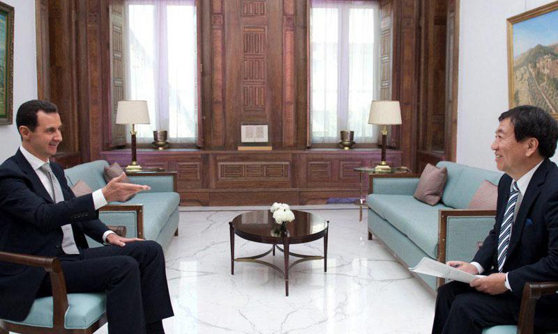 لقاء بشار الأسد مع قناة يابانية- الخميس 19 كانون الثاني (رئاسة الجمهورية)