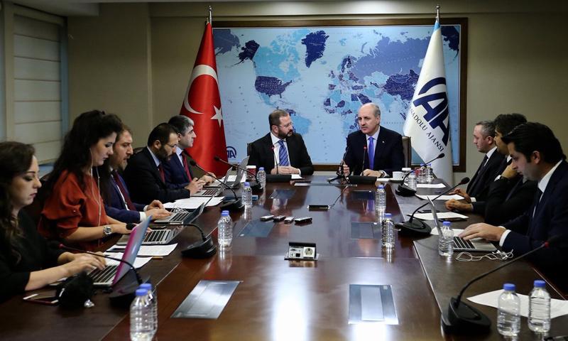 اجتماع نائب رئيس مجلس الوزراء مع عدد من الصحفيين_24 كانون الثاني_(الأناضول)