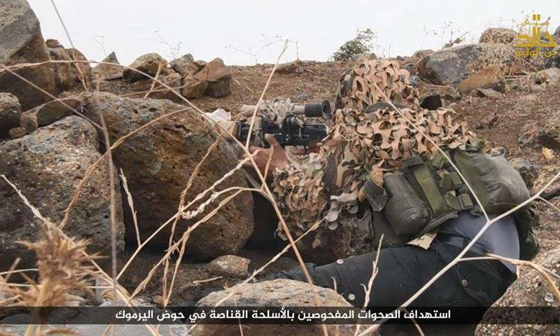 مقاتل من جيش خالد بن الوليد في حوض اليرموك بريف درعا_(جيش خالد)