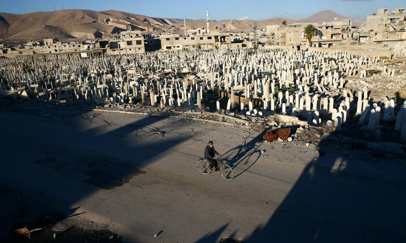 أحد المدنيين في ريف دمشق الغربي_(afp)