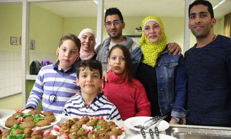 عائلة السورية هالة شحادة في ألمانيا - كانون الثاني 2017 (وسائل إعلام ألمانية)
