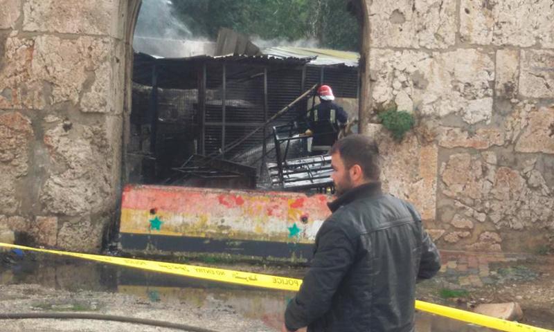 صور من موقع انفجار مولدة الكهرباء في طرطوس - 30 كانون الثاني 2017 (صفحة طرطوس اليوم الموالية للنظام في فيس بوك)