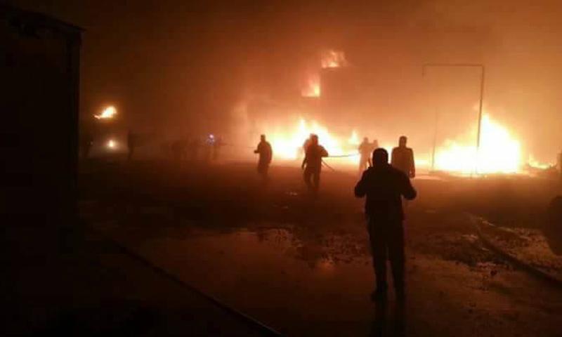 القصف الجوي على الفوج 111 بريف حلب الغربي_19 كانون الثاني_(فيس بوك)