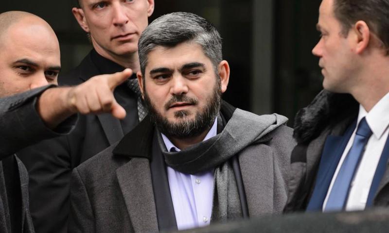 رئيس وفد المعارضة السورية محمد علوش في اجتماع جنيف 2016_(انترنت)رئيس وفد المعارضة السورية محمد علوش في اجتماع جنيف 2016_(انترنت)