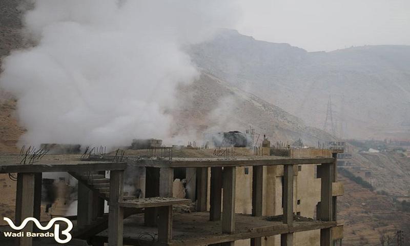 القصف على قرى وادي بردى بريف دمشق الغربي_(الهيئة الإعلامية في وادي بردى)