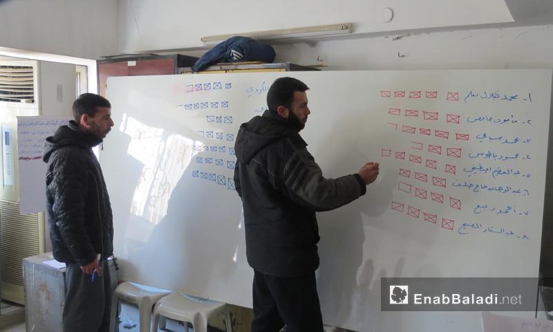 تعبيرية: من انتخابات لجنة إدلب التنفيذية - 30 كانون الثاني 2017 (عنب بلدي)