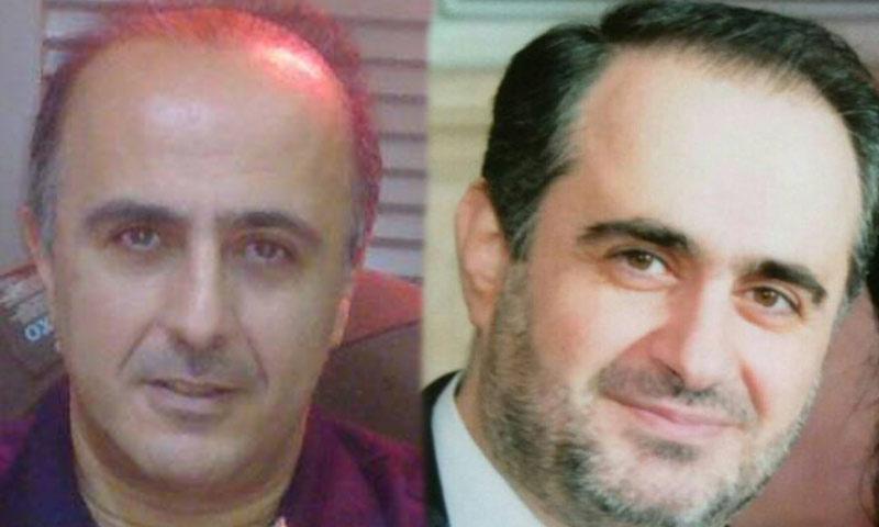 فراس الأسد (يمين الصورة) وشقيقه دريد الأسد (تعديل عنب بلدي)