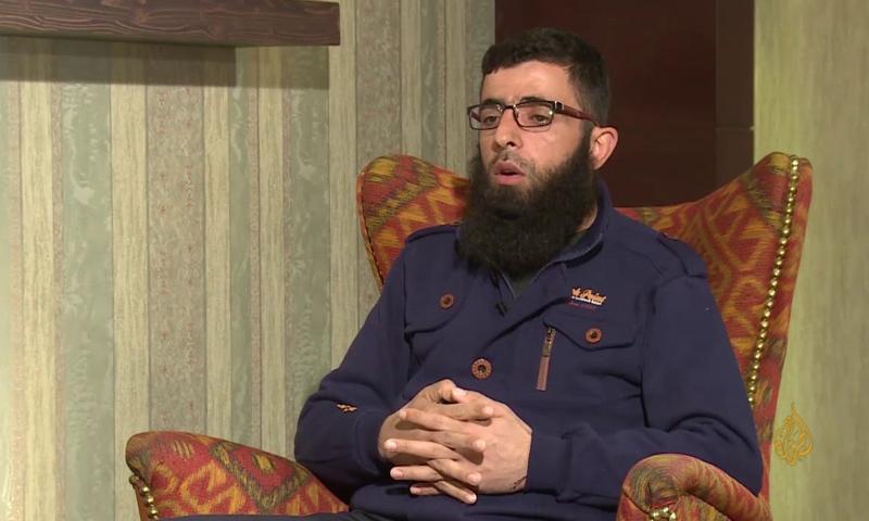 """القيادي في حركة """"أحرار الشام الإسلامية""""، الفاروق أبو بكر - كانون الثاني 2017 (قناة الجزيرة)"""