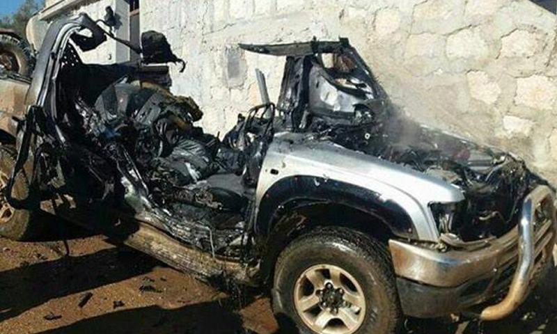 سيارة أبو مصعب الجزراوي القيادي في فتح الشام_(فيس بوك)