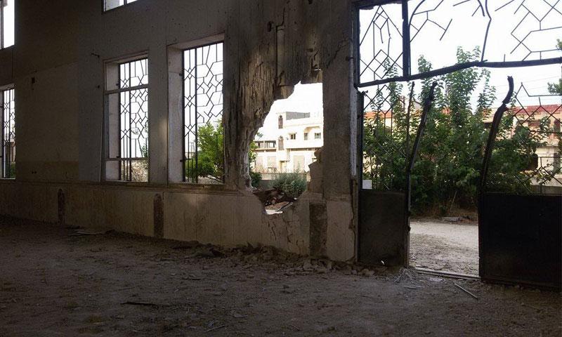 آثار اللقصف على مدينة الحولة في ريف حمص الشمالي_(انترنت)